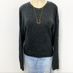 H&M Charcoal Grey Cozy Crew Neck Sweater Medium